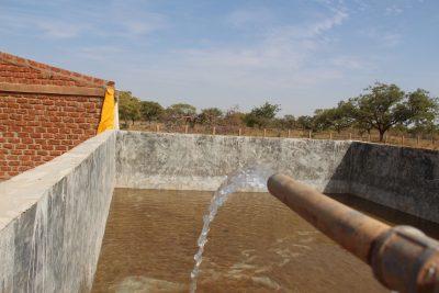 Waterbassin op de landbouwschool